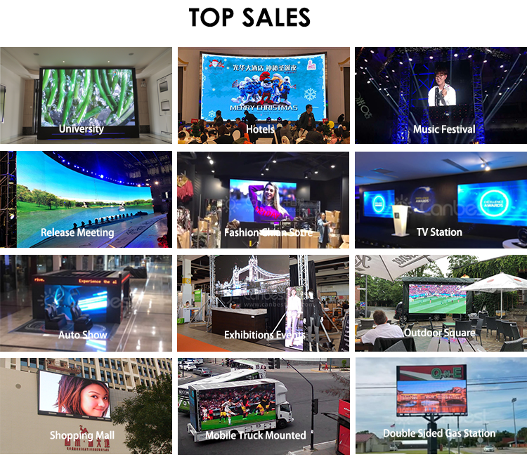 Canbest Rgb Full Color Led Videowall Board Fixed Installation 16X32 P10 Outdoor Led Display Screen