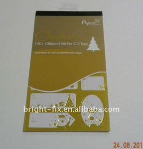 Christmas gift tags/foil sticker/festive gift tags