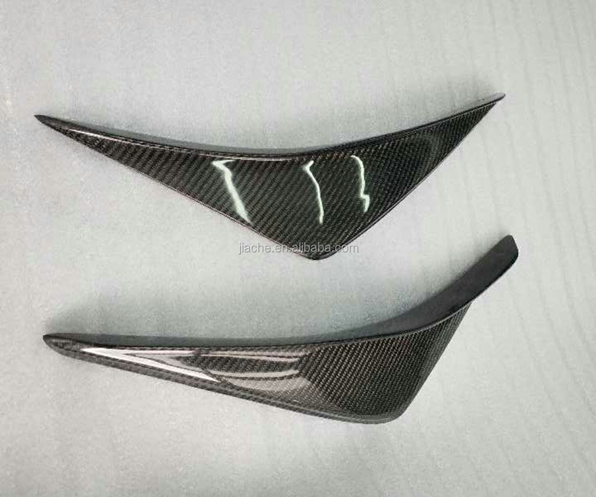 Carbon Fiber 앞 범퍼 스플리터는 측 Shark Fins Trim Canards 대 한 Ford Mustang 2015 2016 2017 2018 2019