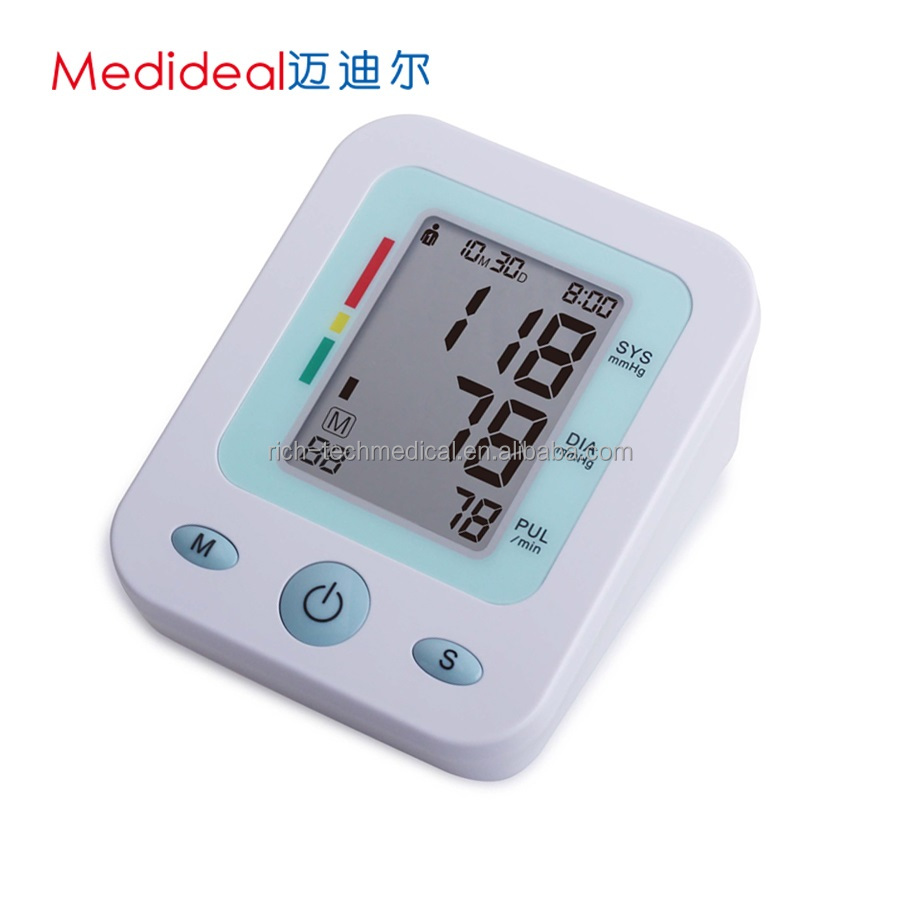OEM Medical Upper Arm Automatic LCD Low MOQ Grey Blood Pressure Meter