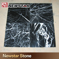 Chinese cheap black and white marble tile