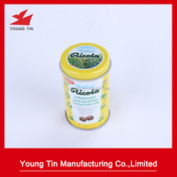 small round tin containers wholesale tea tins