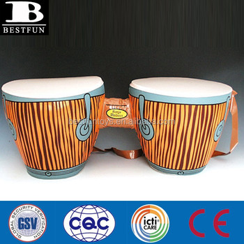 Pvc Inflatable Bongo Drum Toys Display Plastic Set Portable Fake Party Musical Instruments