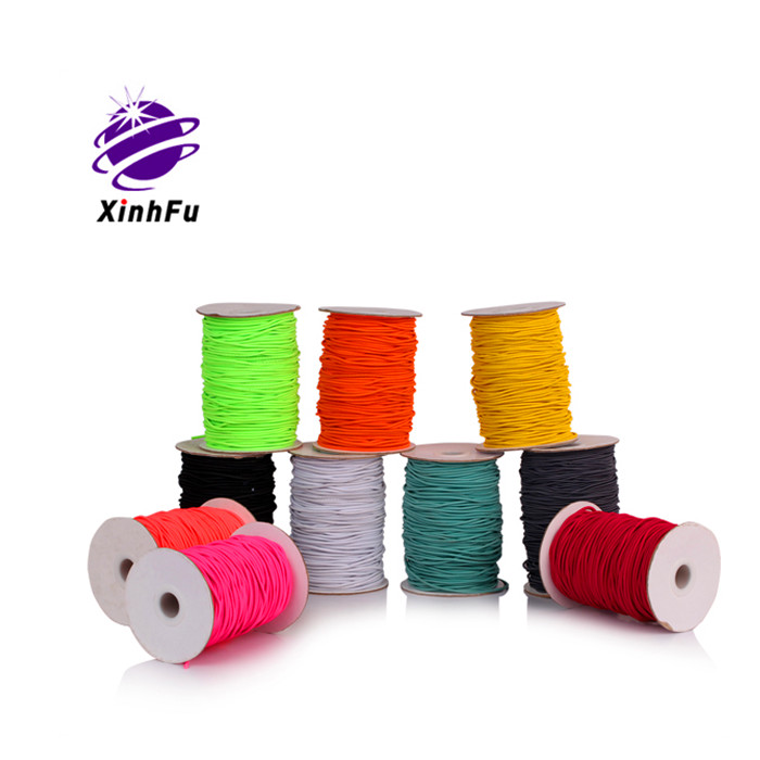 XHF Cheap wholesale custom solid rubber <strong>rope</strong> 2mm <strong>elastic</strong> <strong>rope</strong>