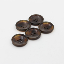 // hot sale custom resin horn button // imitation horn mixed color button // BK-BUT586