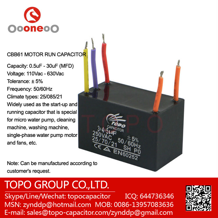 Fan Capacitor Cbb61 5 Wire, Fan Capacitor Cbb61 5 Wire Suppliers and ...