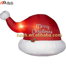 Holiday Decorative Giant Inflatable Christmas Hat for Christmas Decoration
