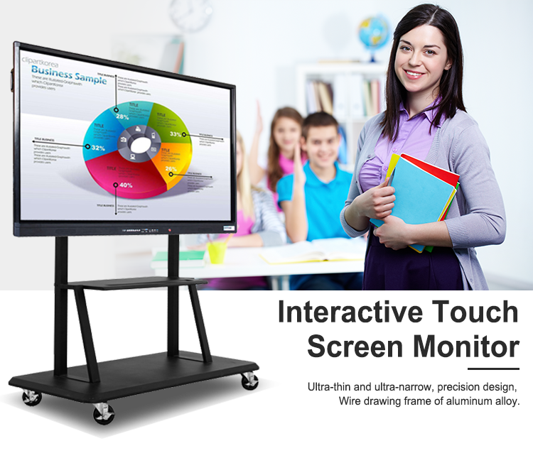Lcd Interactive Panel 65 Inches Touch Screen Smart Board TV