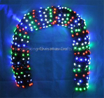 shop mall christmas decoration led light christmas garland outdoor