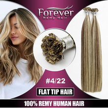 Wholesale high quality 26 inch cheap real human hair extension , flat tip hair