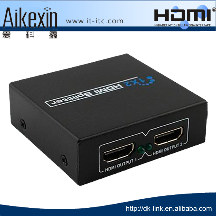 2 Way HDMI Splitter 1x2 1080p for 3D Full HD 1:2 hdmi distributor 1 input 2 output hdmi splitter