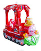 Clown Blowing bubbles unblocked coin operated plastic kiddie ride for rent