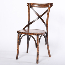 Solid wood outdoor crossback chair dining chair