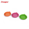 Factory Hi-Q Outdoor Foldable Pet Water Bowls Portable Travel Silicone Collapsible Dog Bowl