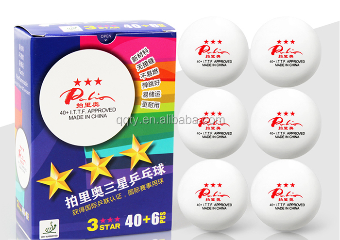 Palio 3 star seamless plastic table tennis ball
