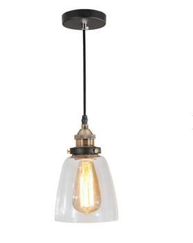 Italian Contemporary Art Clear Gl Suspension Pendant Lighting Lamp Fixture With E27 Led Bulb Wrought Copper Iron Finishing