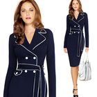 2018 Women Fashion OL Dress Formal Suit One Piece Autumn Winter