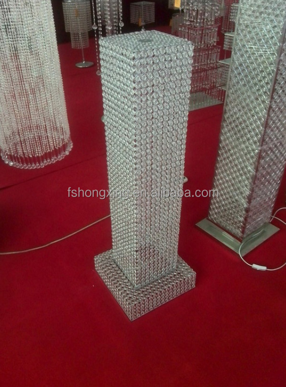 hx332 crystal wedding pillars columns for sale
