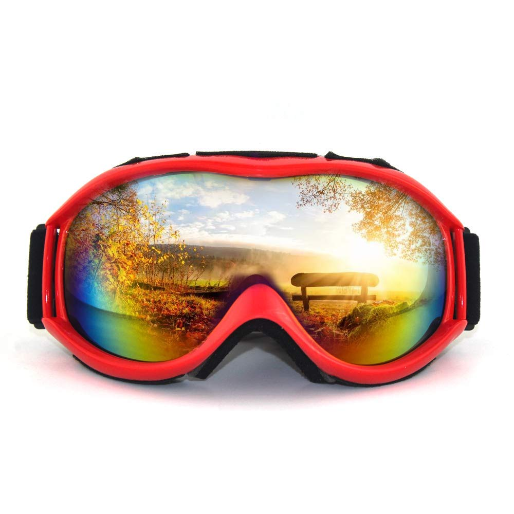 Ski Goggles - Dual Lens Ski/Snowboard Snow Goggles Over Glasses Anti-Fog & UV 400 Protection for Men, Women, Youth