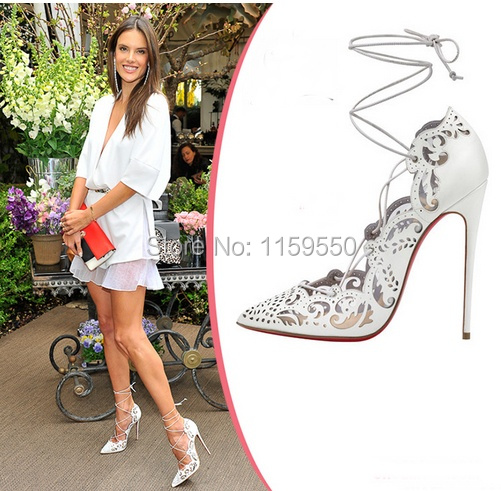 ce76ddf61b18 Aliexpress.com   Buy Spring 2014 Impera Laser Cut Pumps white red .
