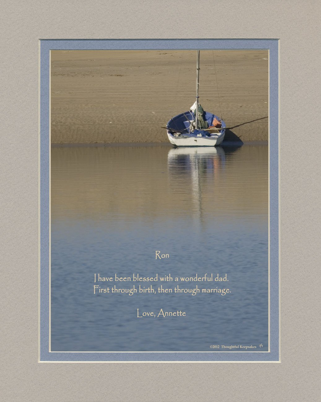 personalized father in law gift boat on sand photo with i have been blessed with a wonderful dad first through birth then through marriage - What To Get Father In Law For Christmas