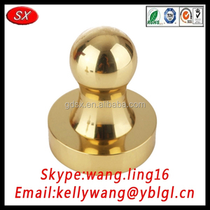 China factory custom high precision brass stamper, round brass metal logo stamp
