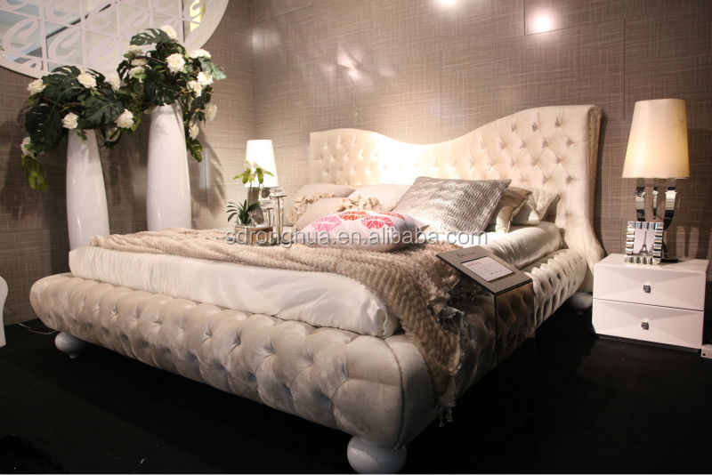 k1830 moderne schlafzimmermöbel stoff bett-Bett-Produkt ID ...
