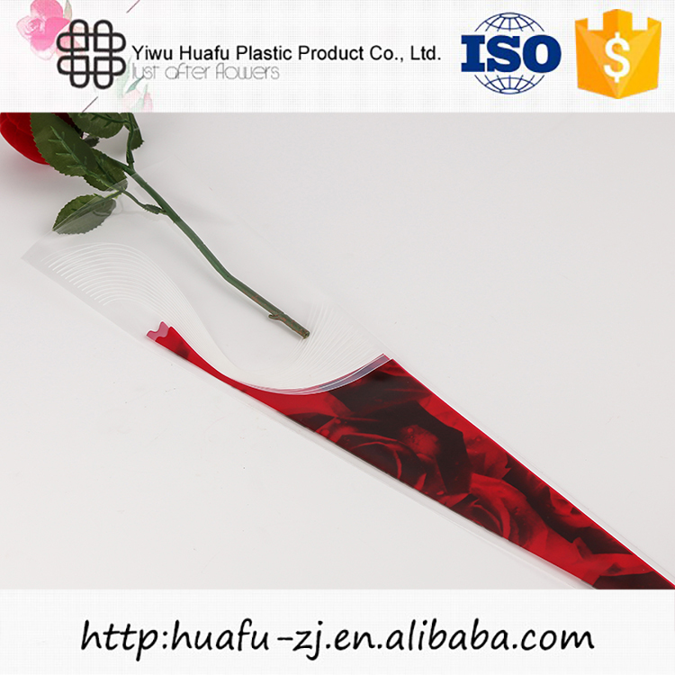 Factory supply special design rose packing flower sleeves