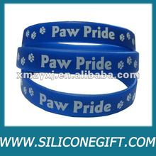 Paw printed silicone bracelet