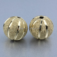 Hollow Finish Copper Brass Material 14k Gold Filled Beads Wholesale