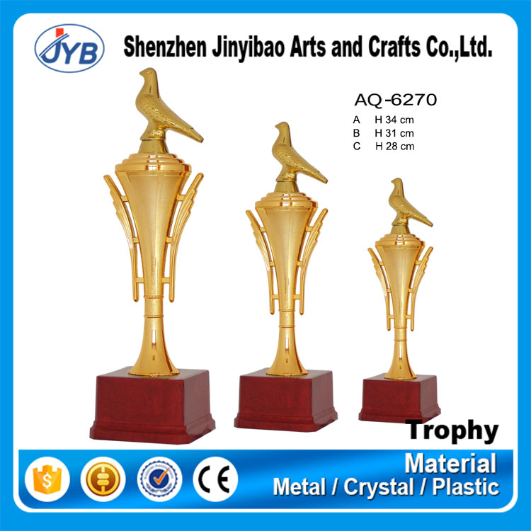 Yiwu cheap trophy cup plastic pigeon trophy for Champion