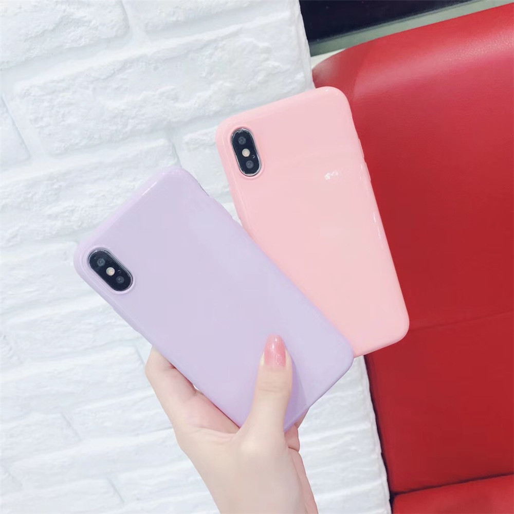 Candy Macaron Cute Phone Case for iPhone 6 7 8 Plus X XS XR XS Max Back Cover Shell with Luxury Packing Box