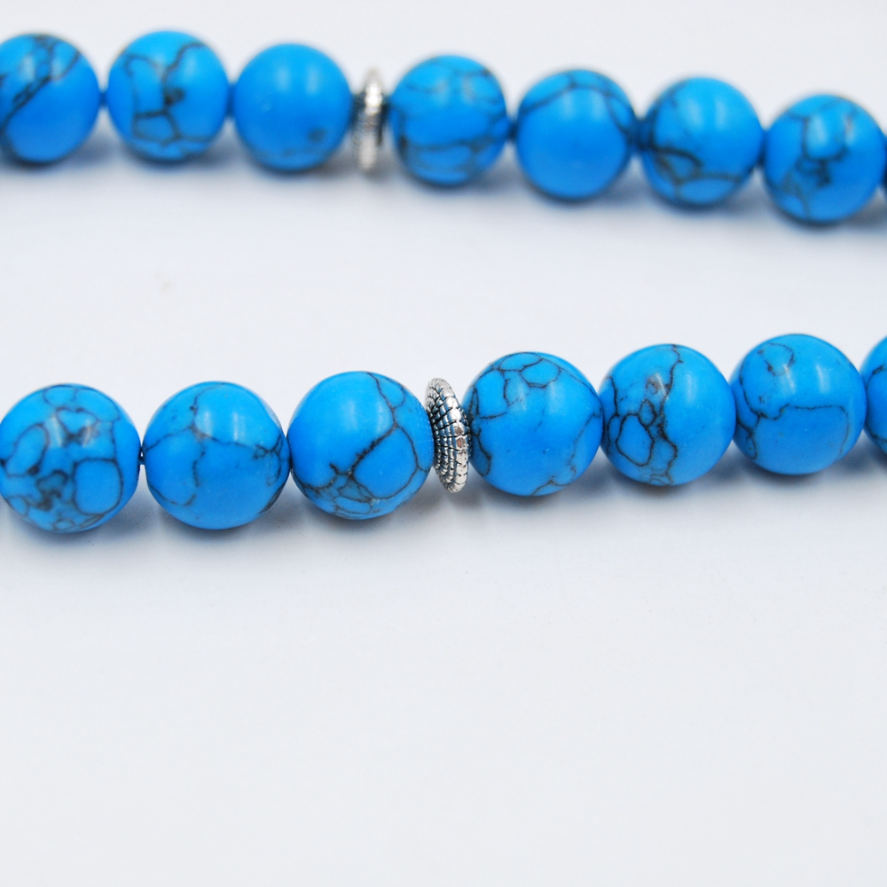 Custom muslim natural stone tesbih 10mm 33beads turquoise prayer beads rosary