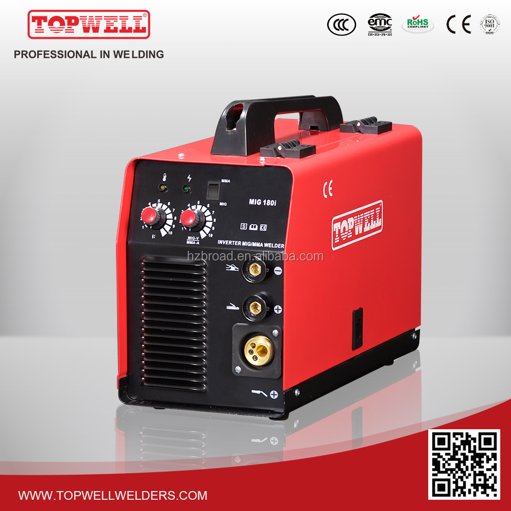 2016 Portable MIG 180 Welder Machine With China Topwell Welding Manufacture Provider