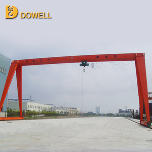 Single main girder portal crane with cable hoist