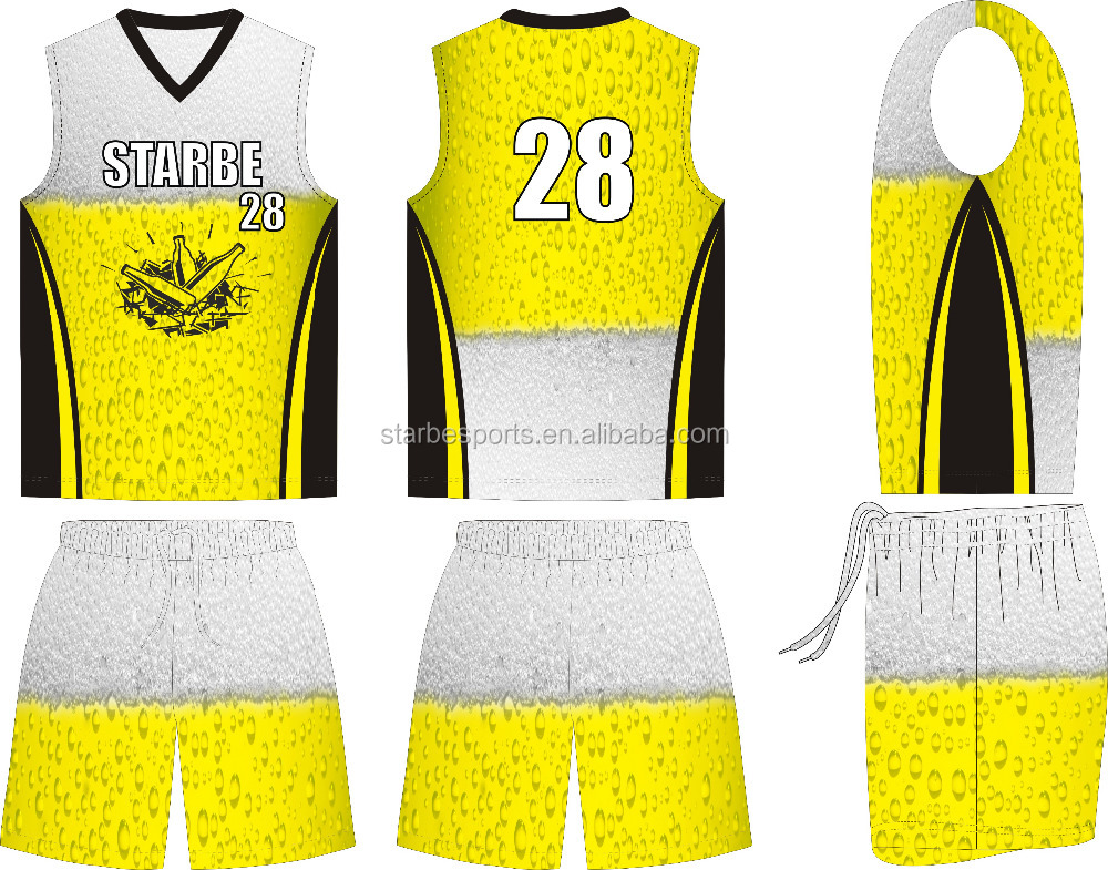 Custom New Design Sublimation Black Red Basketball Team Jersey Hot