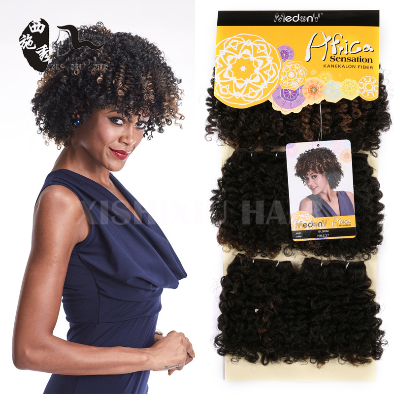 Gold Noble Bloom Curl Short Jerry Kinky Curly Synthetic Premium