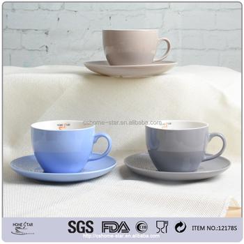 220cc Whole Round Shape Ceramic Jumbo Coffee Tea Cup And Saucer