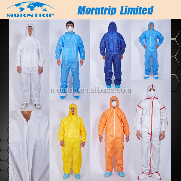 Industrial Using Type 5/6 Approval SMS/Microporous Protective Coverall Disposable Body Suits