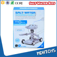 Salt water powered self-assembly kids fighting robot science kits toy