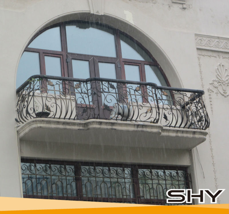 Modern wrought iron window grill design ornamental iron for Grill window design house