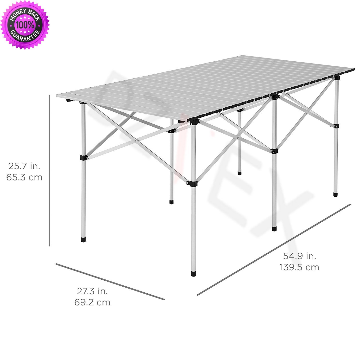"DzVeX Camping Portable Aluminum 55"" Roll-Up Picnic Table W/Carrying Bag And folding patio chairs folding outdoor chairs camping furniture clearance backpack chairs lawn chairs on sale camp chairs"
