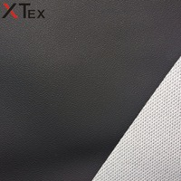 ash black mini dot embossed pvc leather fabric for european style sofa set, racing car seat, roll fabric leather made in china