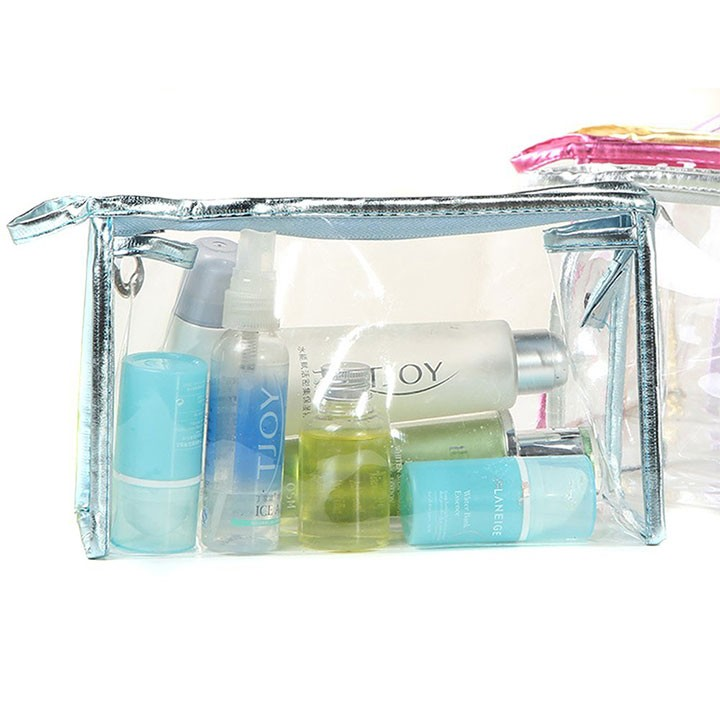 PVC makeup Bag Pouches Tote Clear Transparent Cosmetic Travel Bag For Sale