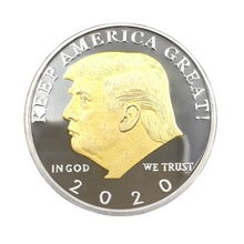 2020 Donald <span class=keywords><strong>trump</strong></span> double side gold coin