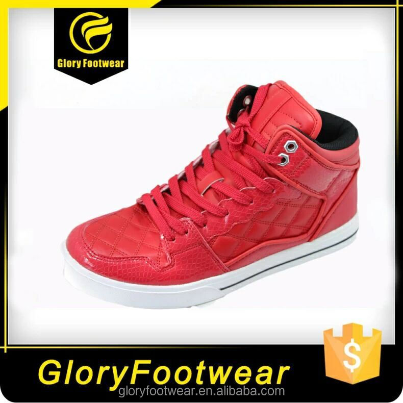 all red Fashion leather Sneaker