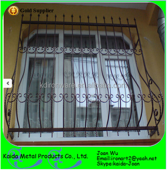 Wrought Iron Window Grill Guard Design