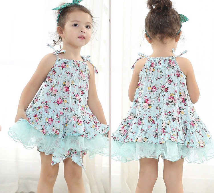 2015 Europe Korea Design Little Girl Baby Clothes 1-6 Years Old ...