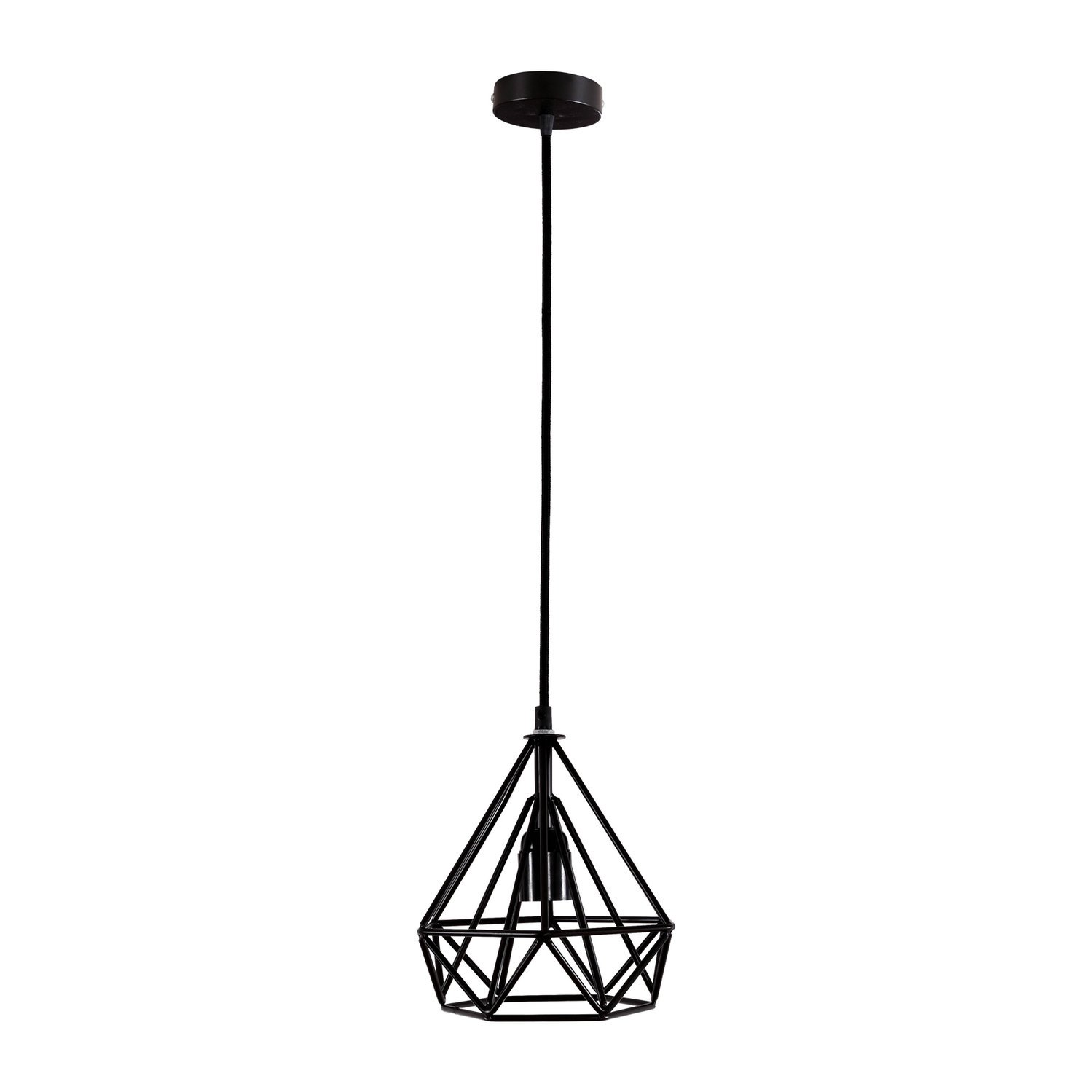 COOLWEST Mini Vintage Edison Hanging Caged Pendant Light Fixture Adjustable Cord