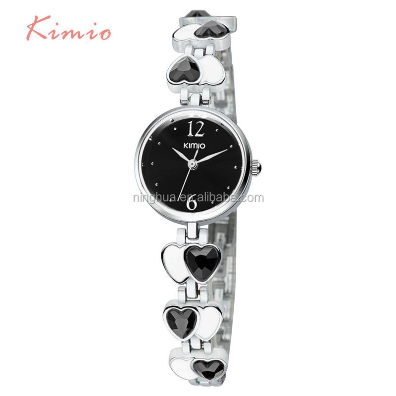 e22844a1a9998 قلب التصميم الجيد بيع العلامة التجارية kimio مشاهدة-ساعات اليد-معرف ...